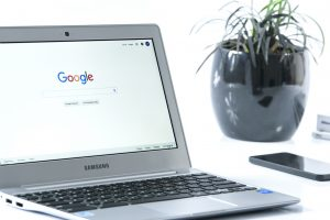 internet, Google on laptop