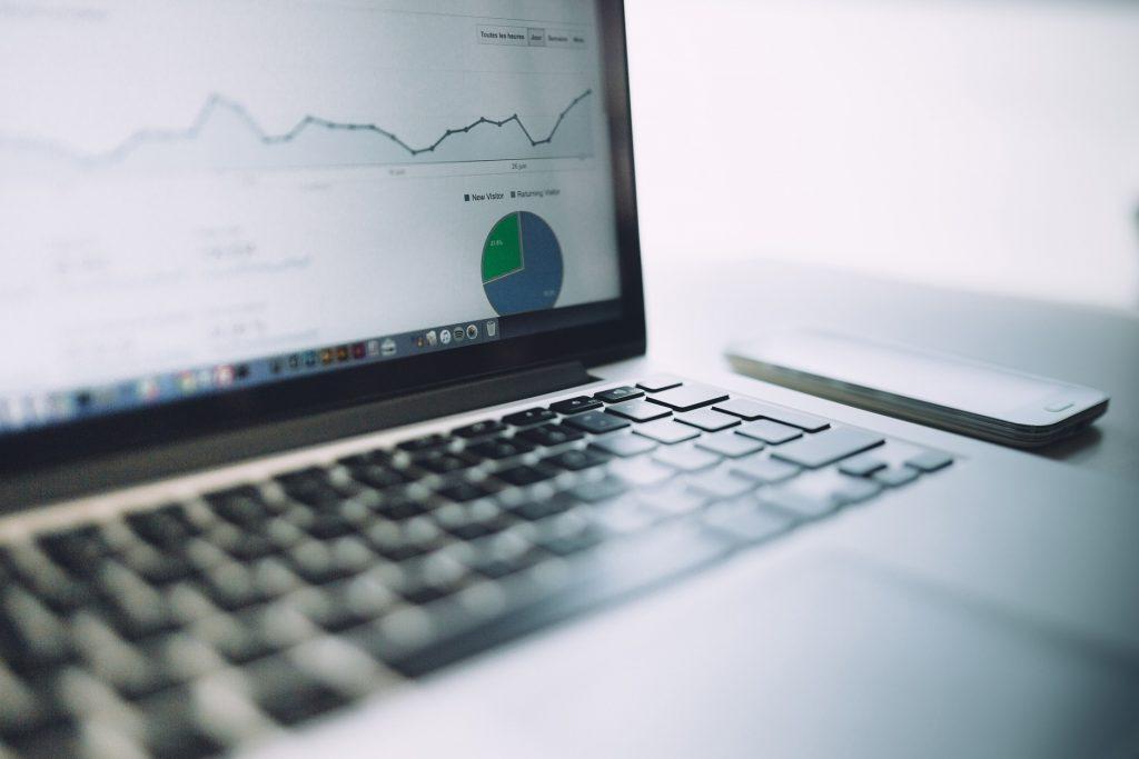 Laptop showing Google Analytics